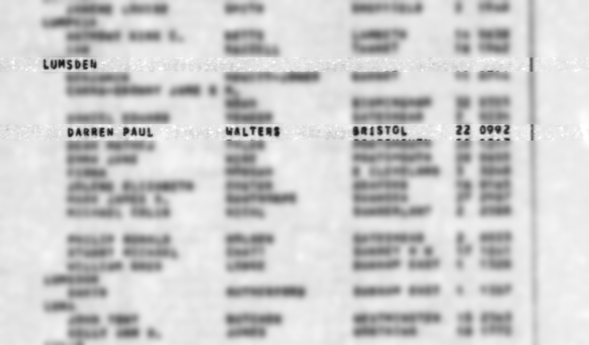 Darren Lumsden Birth Record (2)