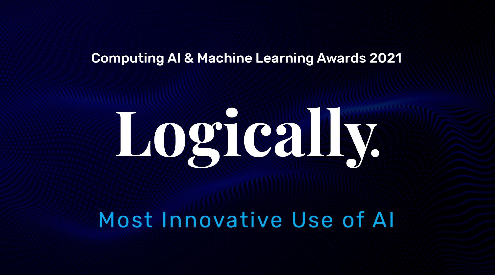 Logically wins the Most Innovative Use of AI award