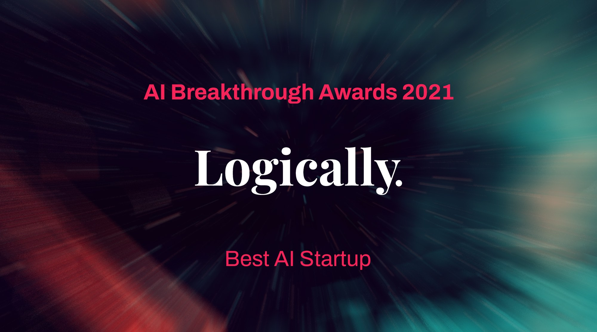 Logically awarded Best AI Startup at the 2021 AI Breakthrough Awards