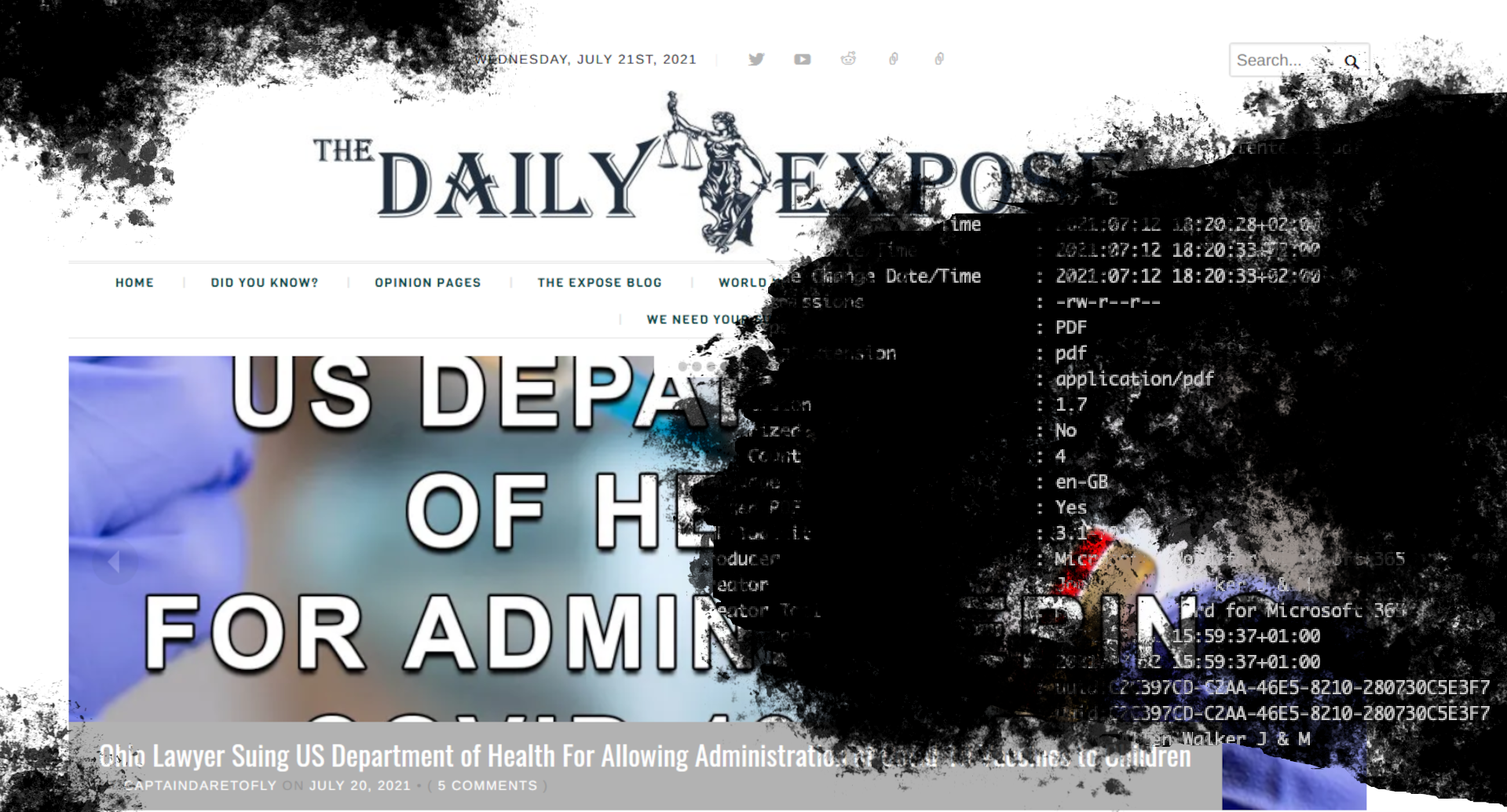 EXCLUSIVE: Actors Behind UK Misinformation Site The Daily Expose Revealed