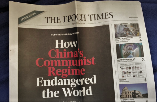 Disinformation to Your Door: The Epoch Times Begins UK Mail Campaign