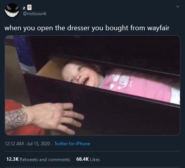 Tweets about Wayfair