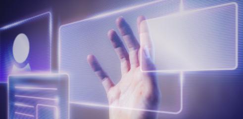 woman-touching-smart-technology-holographic-interface